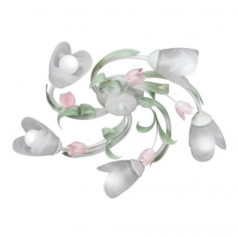 Plafoniera tip lustra Spring VE1541, 5 x E14, alba