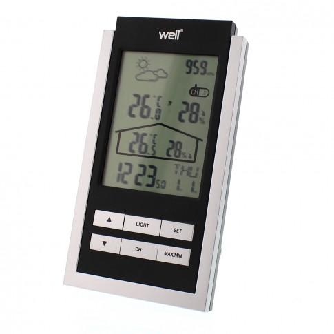 Statie meteo wireless digitala Oracle Well, interior / exterior, ceas, functie alarma, calendar, prognoza meteo