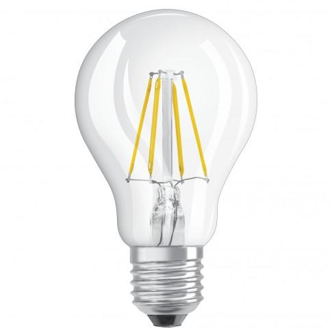 Bec LED Osram clasic A E27 4W 470lm lumina calda 2700 K, cu filament - 2 buc