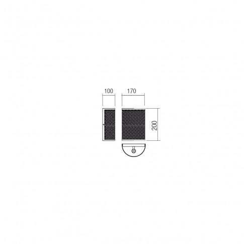 Aplica Maasai 01-1251, 1 x E27, decor traforat, negru mat