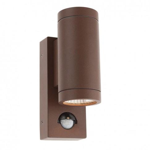 Aplica exterior cu LED Vince DB 9455, 2 x 3W, cu senzor, maro
