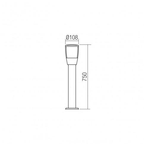 Stalp LED Pepe 9451, 6W, gri inchis