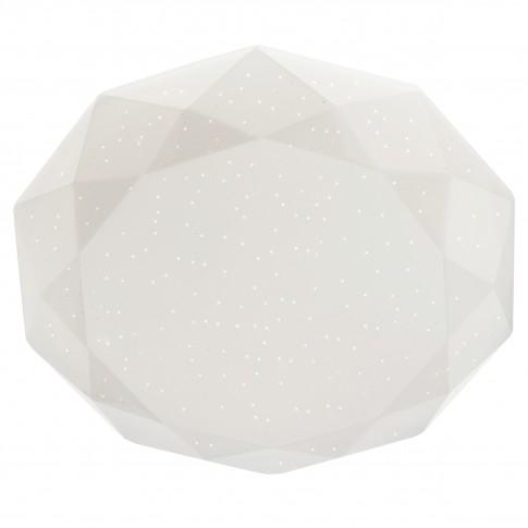 Plafoniera LED Emerald 05-853, 18W, lumina neutra, alb cu efect de sclipire