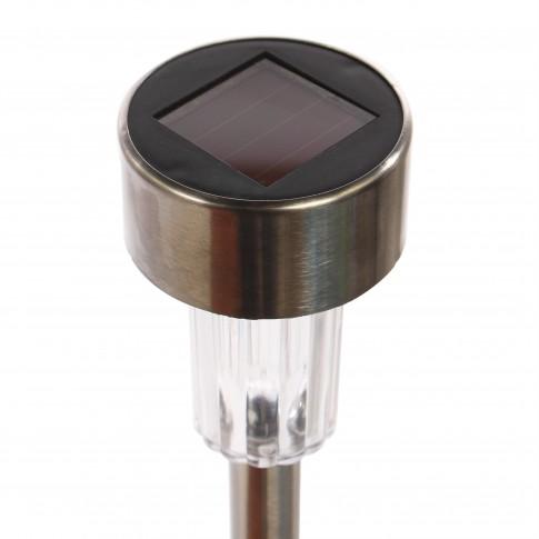 Lampa solara Hoff Stick, inox, H 36 cm - 6 buc