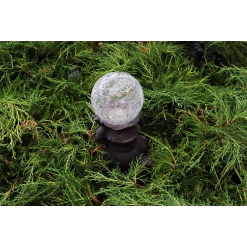Lampa solara microLED Hoff, broasca, H 28 cm