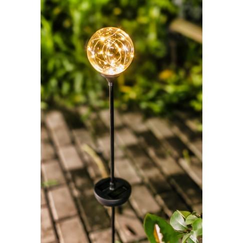 Lampa solara microLED Hoff, glob, H 86 cm