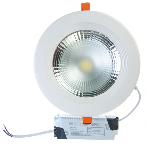 Spot LED incastrat Beta, 20W, lumina rece, 170 mm