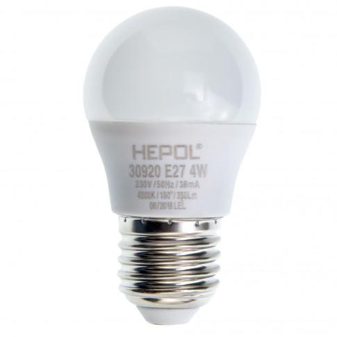 Bec LED Hepol mini E27 4W 350lm lumina neutra 4000 K