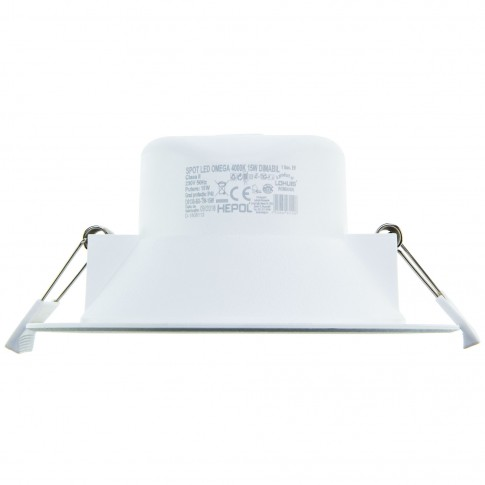 Spot LED incastrat Omega, 15W, dimabil, lumina calda / neutra / rece