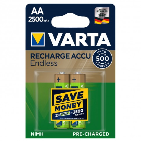 Acumulator Varta Endless 56686, AA / HR6, 1.2V, 2500 mAh, 2 buc
