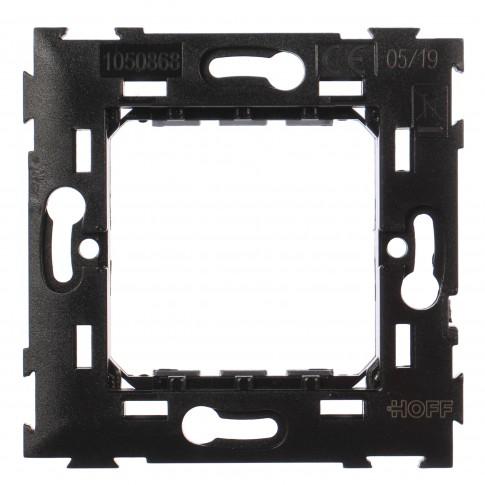 Suport Hoff, 2 module, neagra, 73 x 73 x 15 mm, pentru rama priza / intrerupator
