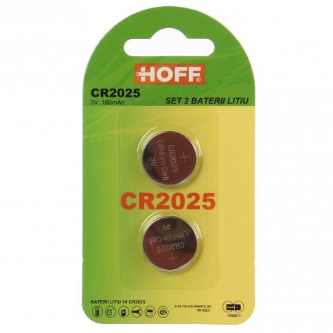 Baterie Hoff CR2025, 3V, litiu, 2 buc