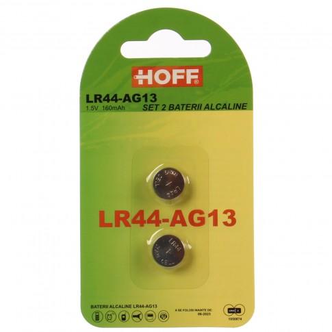 Baterie Hoff LR44-AG13, 1.5V, alcalina, 2 buc