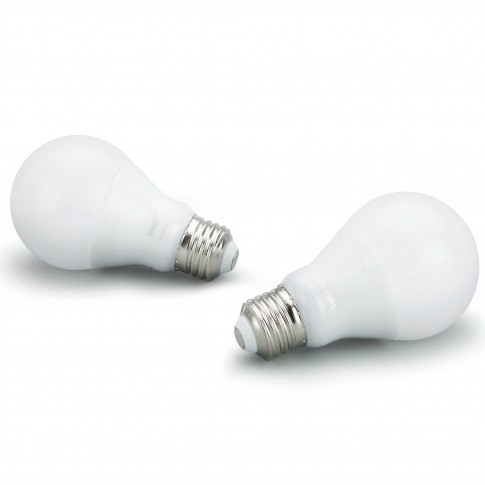 Bec inteligent LED Philips Hue clasic A60 E27 9W 806lm lumina calda 2700 K, Wi-Fi, Bluetooth, dimabil, set 2 buc