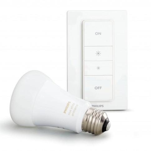 Kit de pornire Philips Hue Ambiance: variator + bec inteligent LED clasic A19 E27 9W 800lm lumina calda / rece 2200-6500 K, dimabil