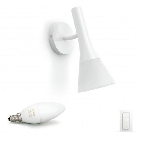 Aplica LED Hue Explore 4300231P7, 1 x E14, 6W, lumina calda sau rece, alba