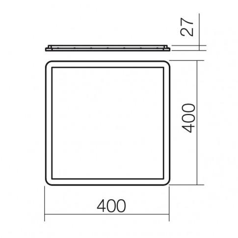 Plafoniera LED Zing 01-1288, 24W, lumina neutra 4000 K, IP44