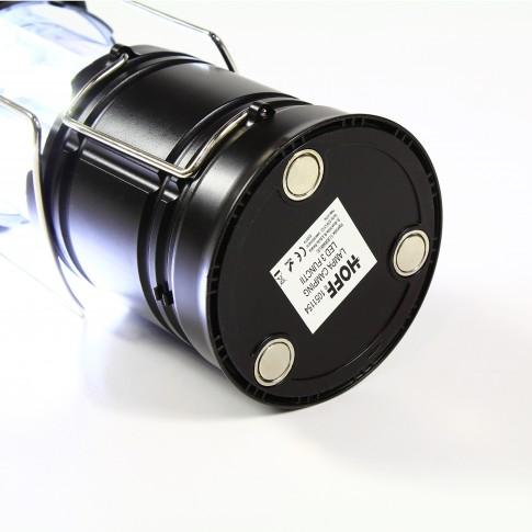 Lampa LED camping Hoff, 3 functii, alimentare baterii
