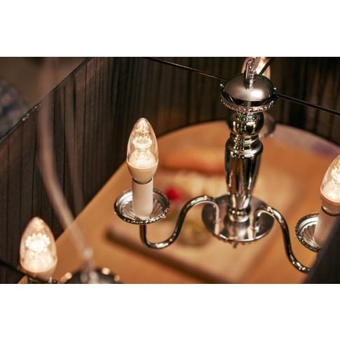 Bec LED Philips lumanare B40 E14 8W 806lm lumina calda 2200-2700 K, dimabil