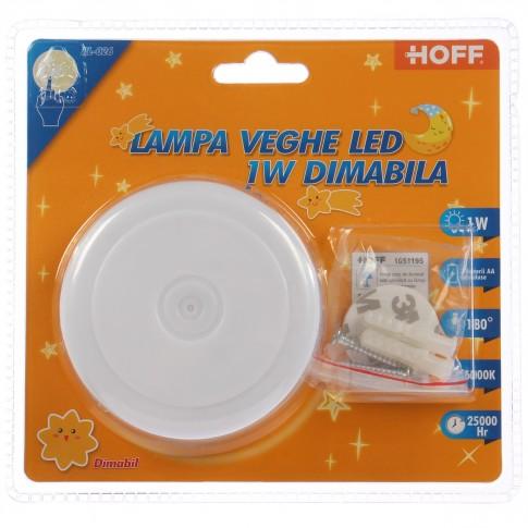 Lampa de veghe LED Hoff, 1W, dimabila, alimentare baterii