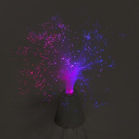 Lampa LED RGB Hoff, 0.5W, cu fibra optica, alimentare baterii