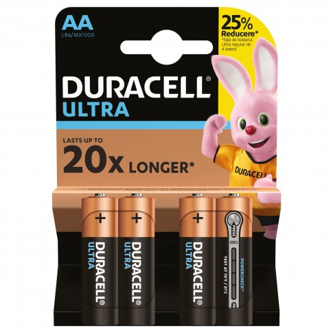 Baterie Duracell Turbo Max Red, AA, Alkaline, 4 buc