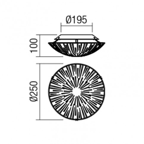Plafoniera LED Refracto 05-878, 8W, alba