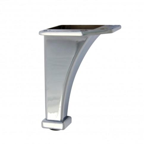Picior mobila, fix, metalic, cromat, 105 mm