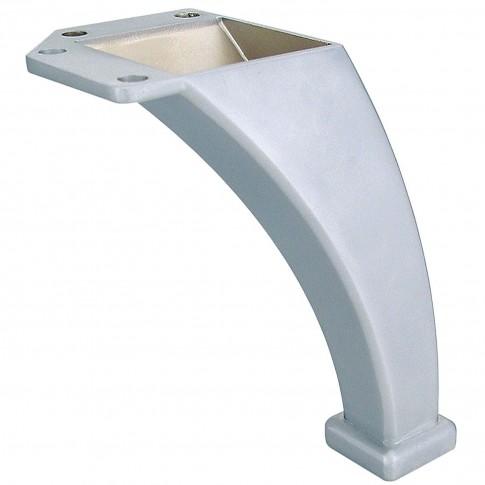Picior mobila, fix, metalic, crom satinat, 105 mm