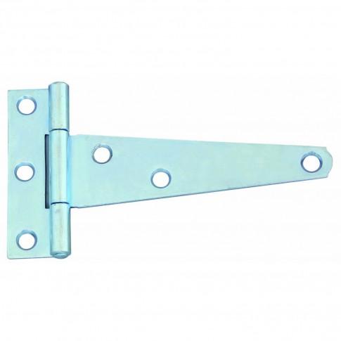 Balama pentru poarta, tip T, din otel, finisaj zincat alb, 127 mm