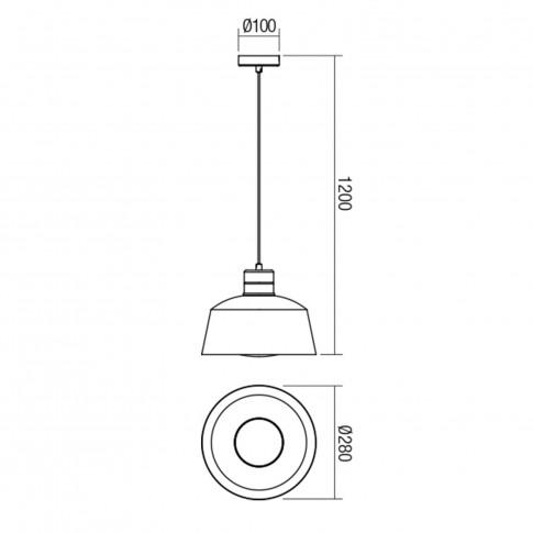 Suspensie Skimmel 01-1542, 1 x E27, cupru periat