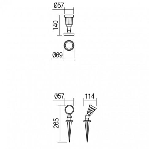 Proiector LED Tim BK 9998, 5W, lumina neutra, IP65
