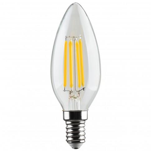 Bec LED filament Hoff lumanare E14 5W 640lm lumina rece 6500 K