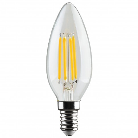 Bec LED filament Hoff lumanare E14 5W 640lm lumina neutra 4000 K