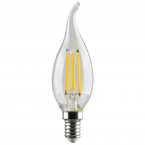 Bec LED filament Hoff lumanare fantezie E14 5W 600lm lumina calda 2700 K, flame