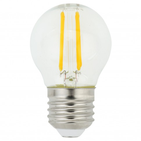 Bec LED filament Hoff mini G45 E27 5W 650lm lumina rece 6500 K