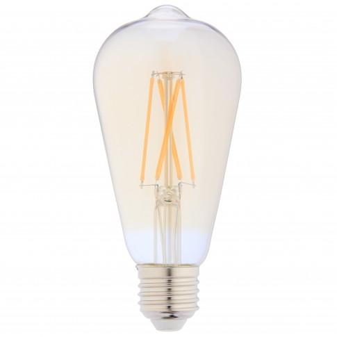 Bec LED filament Hoff clasic ST64 E27 8W 850lm lumina calda 2500 K, auriu, dimabil