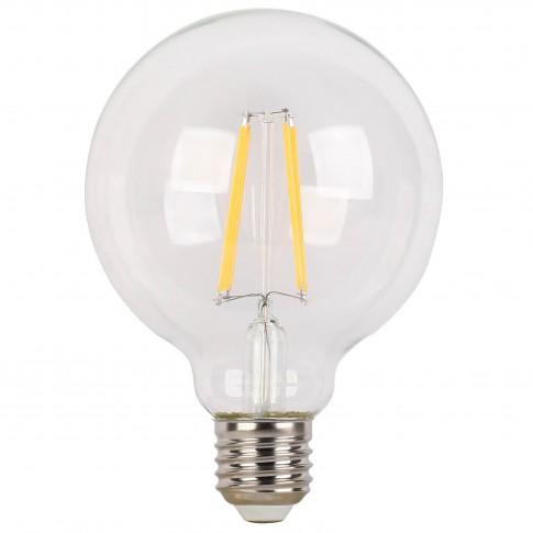 Bec LED filament Hoff glob G95 E27 6W 820lm lumina rece 6500 K