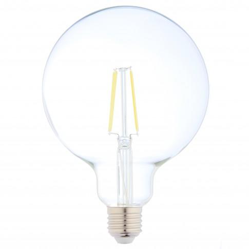 Bec LED filament Hoff glob G125 E27 8W 1080lm lumina calda 2700 K