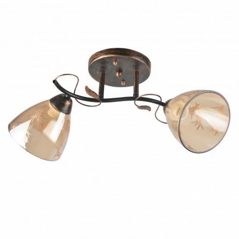 Lustra Jody LY-3352, 2 x E27, bronz antic + bej