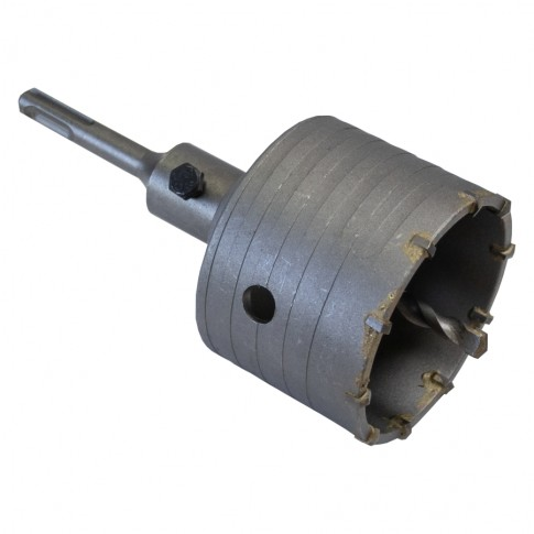 Carota cu widia, pentru beton, cu burghiu centrare, Lumytools LT23308, 80 mm