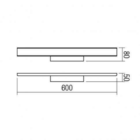 Aplica LED pentru baie Dao 01-1526, 24W, lumina neutra 4000 K, IP44, alba
