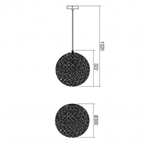 Suspensie Proteus 01-1513, 1 x E27, D 300 mm, aurie