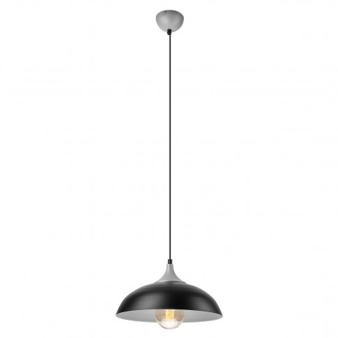 Suspensie Eva 36472, 1 x E27, negru + argintiu
