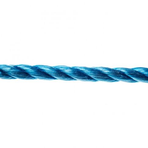 Sfoara polipropilena, rasucita, albastra, 6 mm