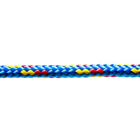 Sfoara polipropilena, impletita, multicolora, 6 mm
