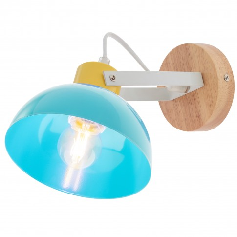 Aplica Eolo 04-511, 1 x E27, albastra