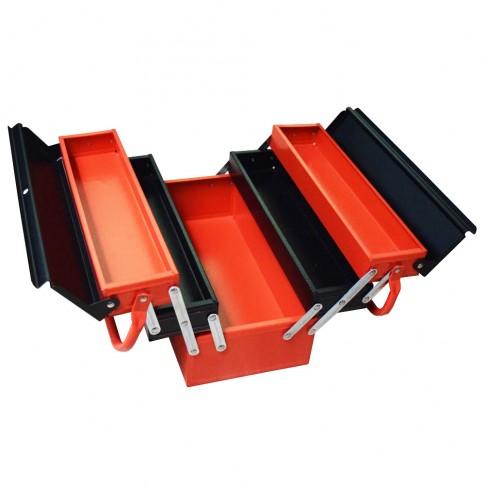 Cutie metalica pentru scule, rabatabila, 5 compartimente, Kronus, 420 x 205 x 205 mm