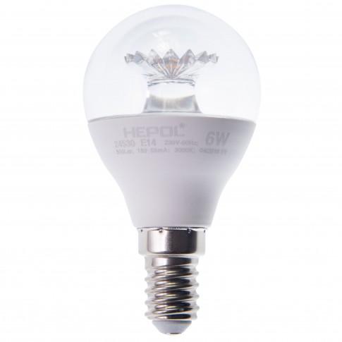 Bec LED Hepol mini E14 6W 550lm lumina calda 3000 K - 5 buc