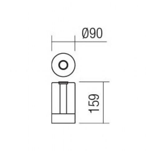 Veioza LED Tabby 01-1748, 2.5W, cupru rosu